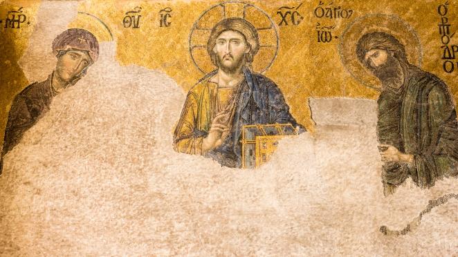 Hagia Sophia - zniszczona mozaika